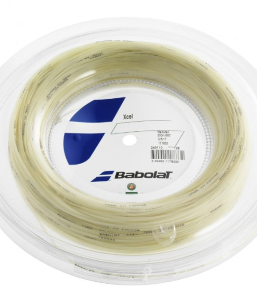 Babolat Xcel Strings 17 – Natural – 200m Reel