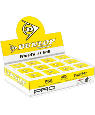 Dunlop Pro 1 ball box (Double Yellow dot)