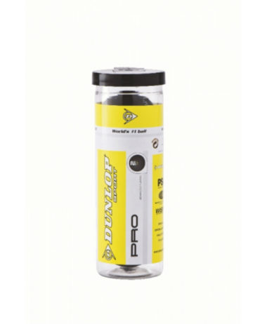 Dunlop Pro 3 Ball Tube - Double Yellow Dot