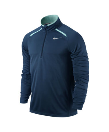 NIKE MEN'S HALF-ZIP LONG SLEEVE TOP - Brave Blue
