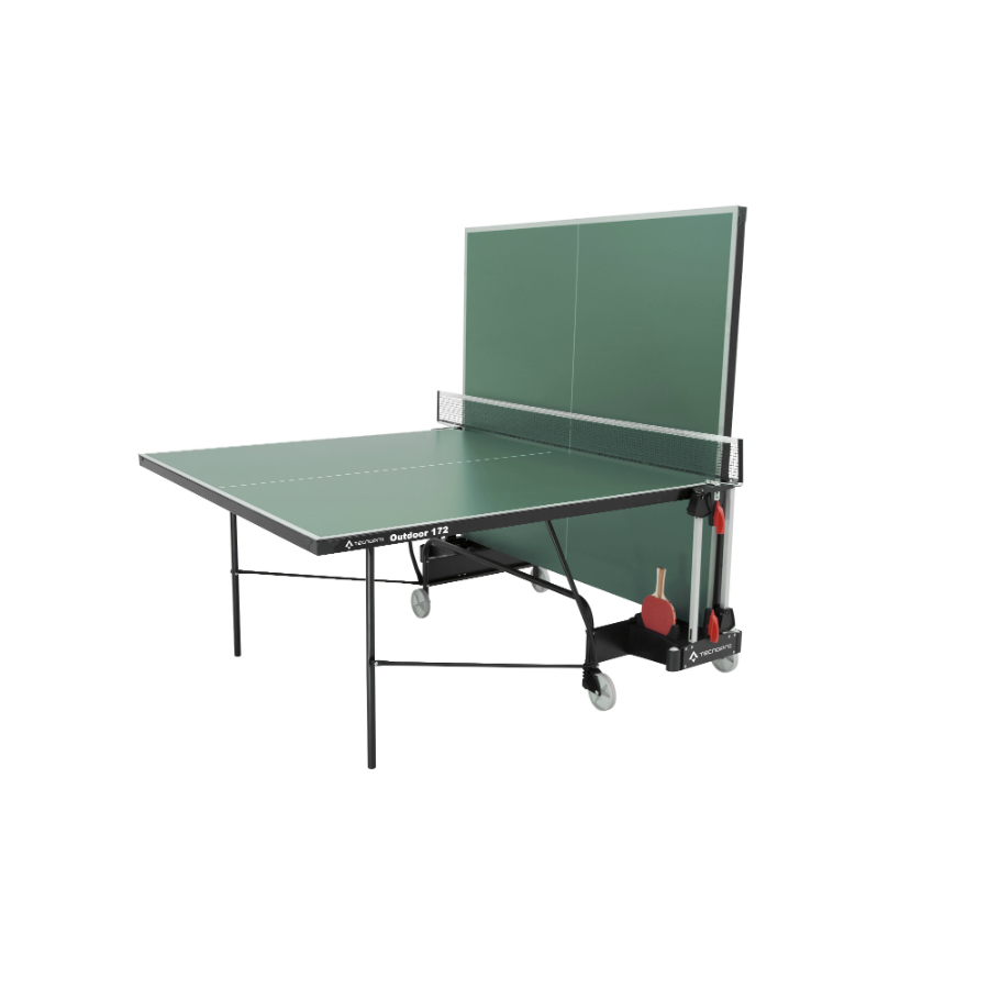 tecno pro outdoor table tennis table green pure racket. Black Bedroom Furniture Sets. Home Design Ideas