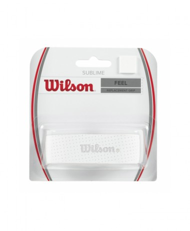 Wilson Sublime Replacement Grip - White. tennis jpg