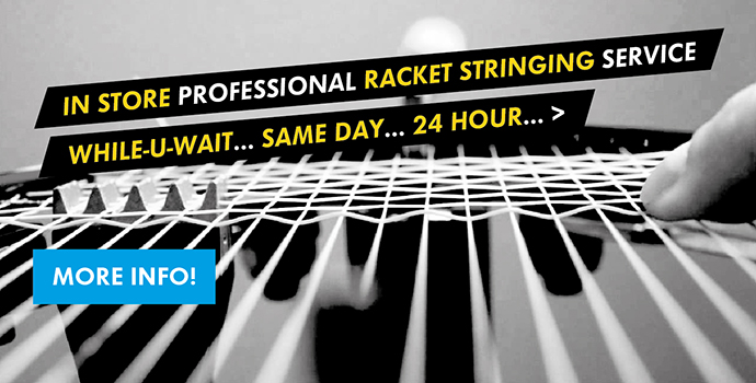 In-store Professional Racket Stringing Service