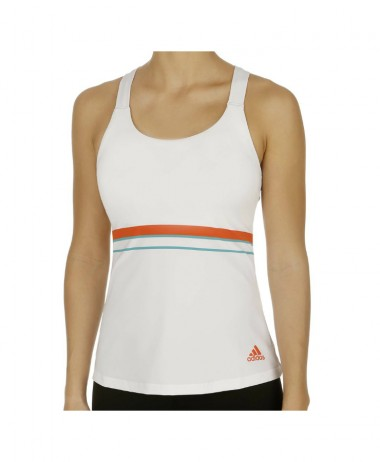 Adidas Ladies Tennis Tank - White