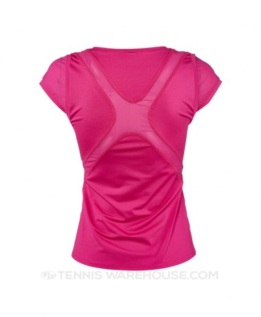 InPhorm top pink back view. - ladies tennis jpg