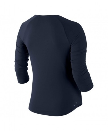 Nike ladies Pure 3 4 Sleeve Tennis Top navy