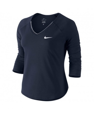 Nike ladies Pure 3 4 sleeve Tennis Top