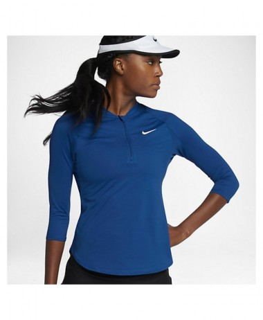Nike ladies Nikecourt Dry Pure 3 4 Sleeve Tennis Top