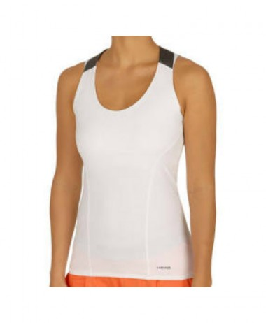 Head vision Tank Top Women White