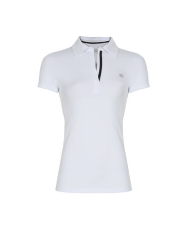 Poivre Blanc Ladies Tennis Polo White