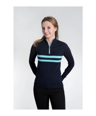 Birdie half zip navy jumper