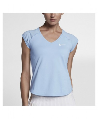Nike ladies pure tennis top Hydrogen Blue