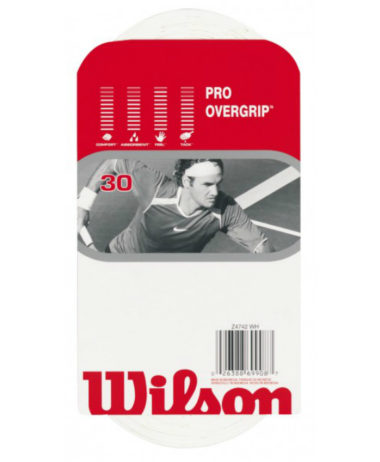 Wilson Pro Overgrip - White (Pack of 30 Grips)