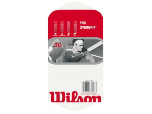 Wilson Pro Overgrip – White (Pack of 30 Grips)
