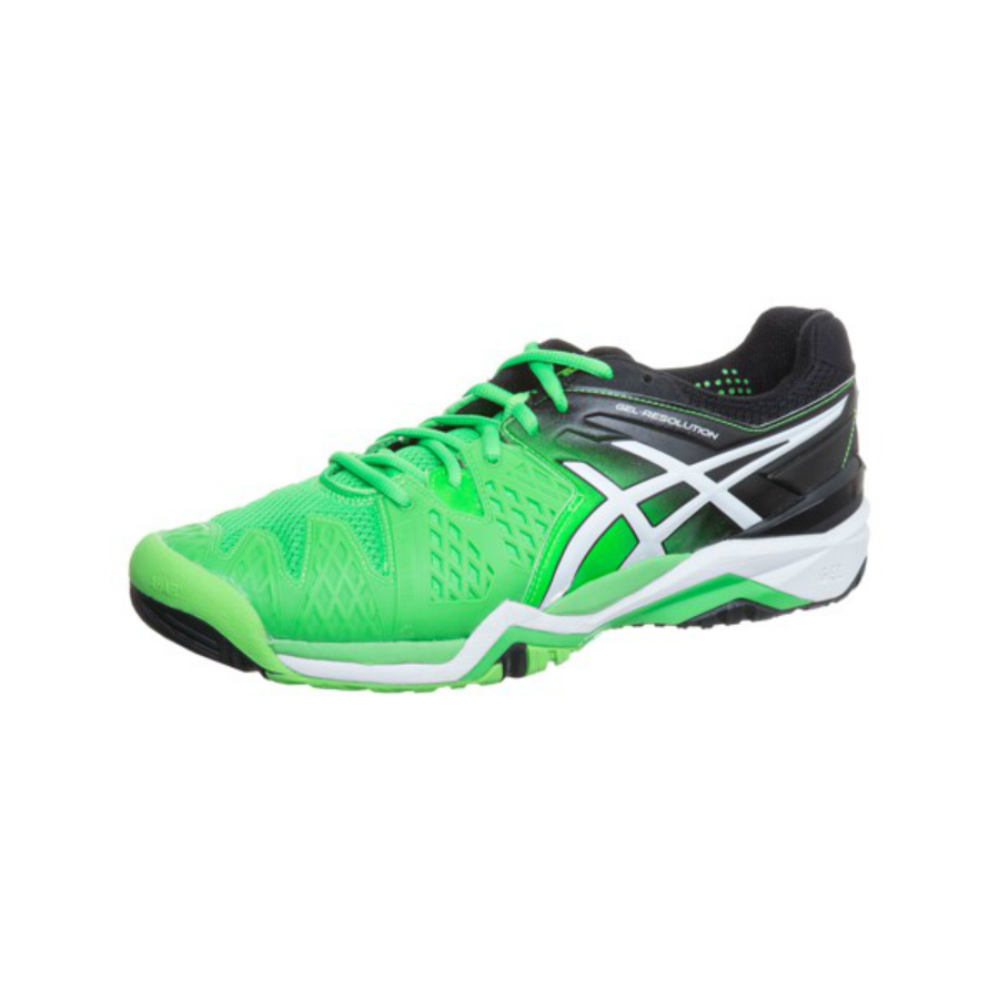1268439b09 ASICS GEL-RESOLUTION 6 MEN'S TENNIS SHOE - Flash Green - Pure Racket ...