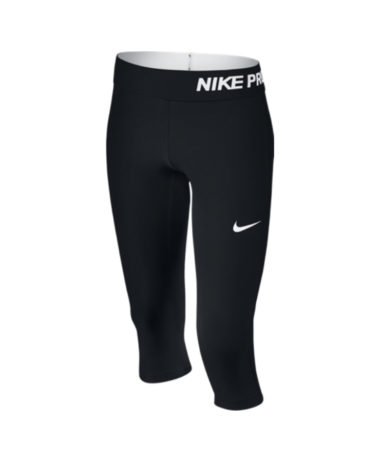 Nike girls pro capri leggings - black