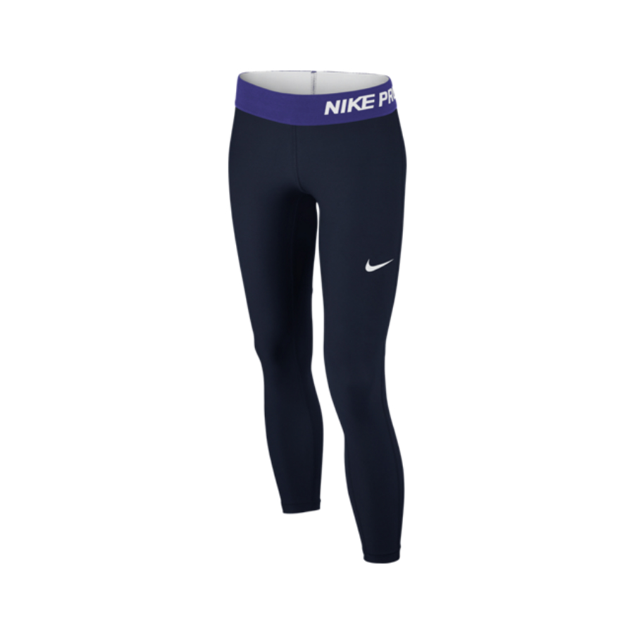 nike girls pro tight tennis leggings obsidian pure racket sport. Black Bedroom Furniture Sets. Home Design Ideas