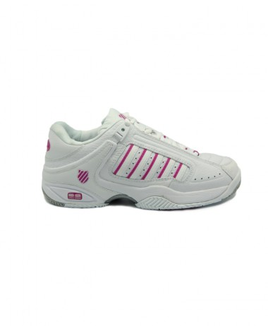 K Swiss Defier Rs Ladies White Silver Tennis Shoes