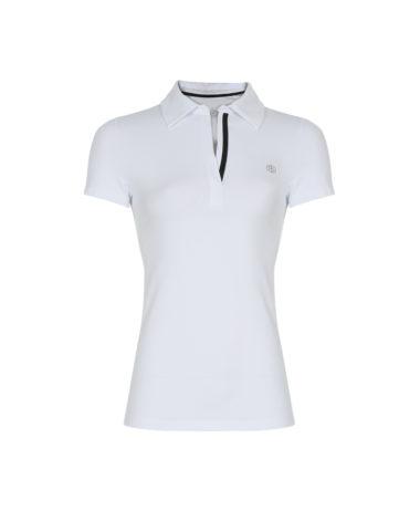 Poivre Blanc Ladies Tennis Polo White