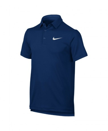 Boys nike dry tennis polo blue jay