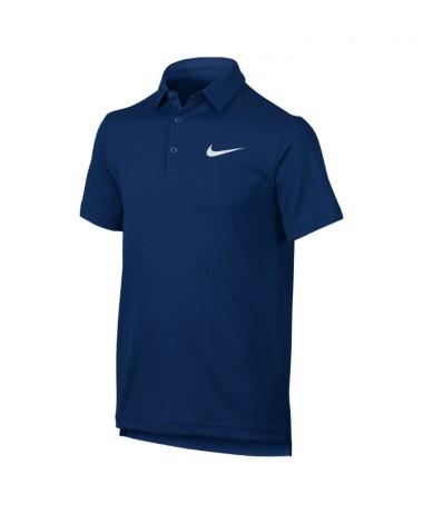 Boys nike dry tennis polo blue jay
