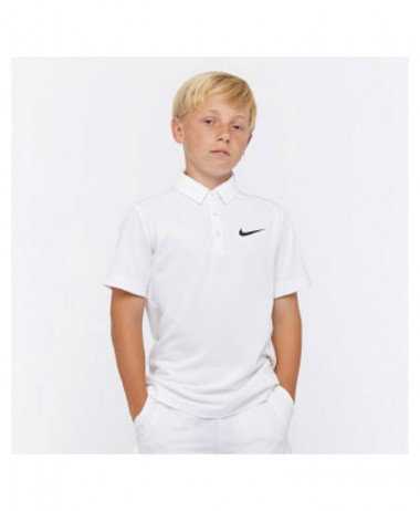 Nike boys dry tennis polo white