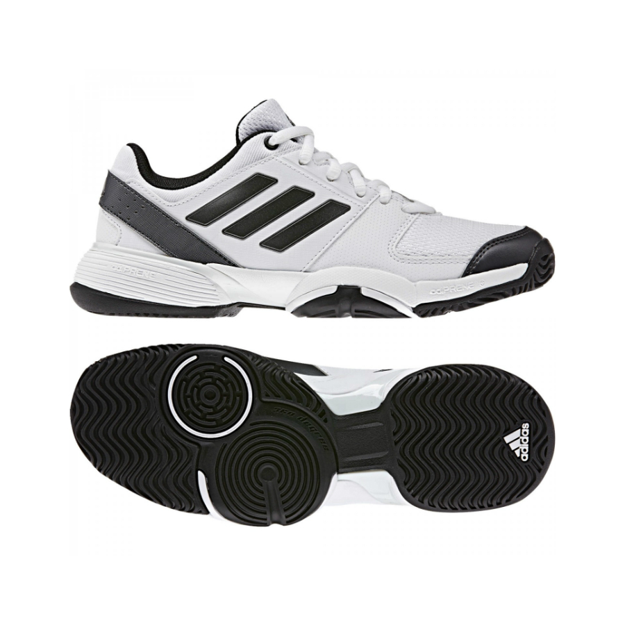 Adidas Barricade  Xj White Grey Junior Shoes
