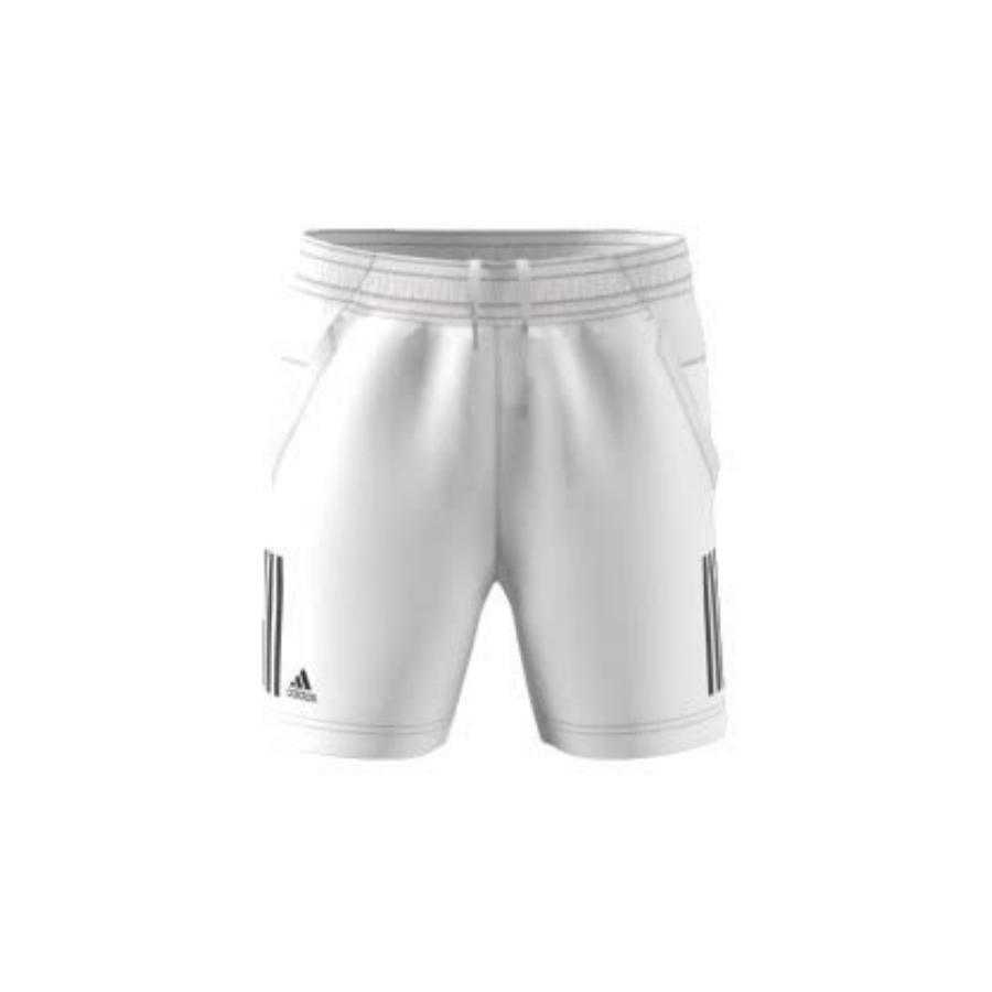 705e0683d ADIDAS BOYS CLUB 3S Tennis Shorts - White - Pure Racket Sport