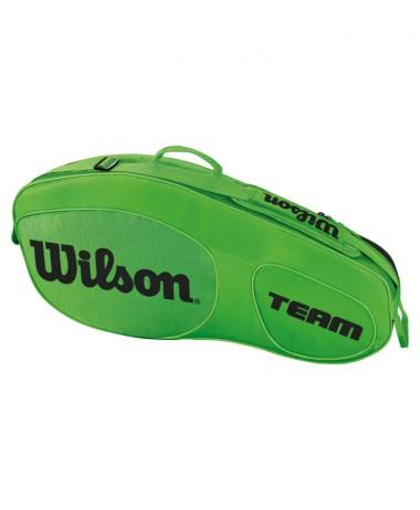 Wilson Team III x 3 Tennis Racket Bag Green