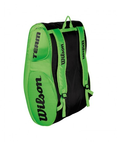 Wilson team III x 12 Tennis Racket Bag Green