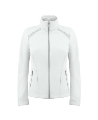 Poivre blanc ladies tennis jacket white