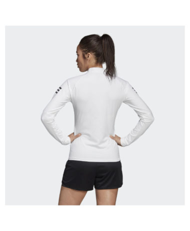Adidas Womens Long Sleeve Tennis Top - White