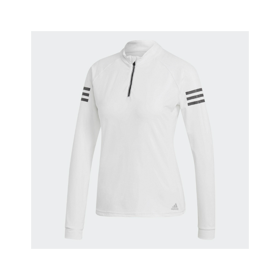 Adidas Womens Long Sleeve Tennis Top - White