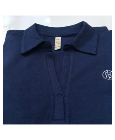 Poivre blanc tennis ladies polo shirt - deep blue