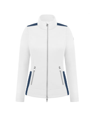 Poivre Blanc tennis ladies jacket - white/blue