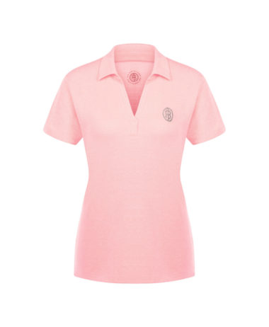 Poivre Blanc tennis ladies polo shirt - Angel Pink