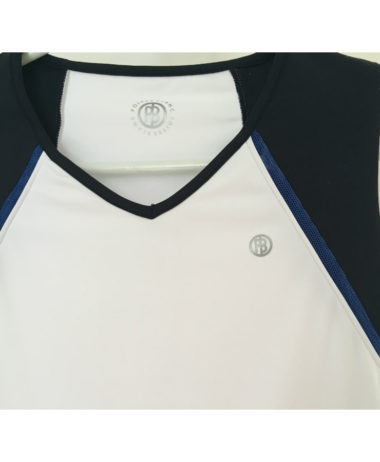 poivre blanc tennis ladies top - white/oxford blue 2020