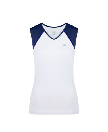 Poivre Blanc Tennis Ladies Tank - Oxford blue / white