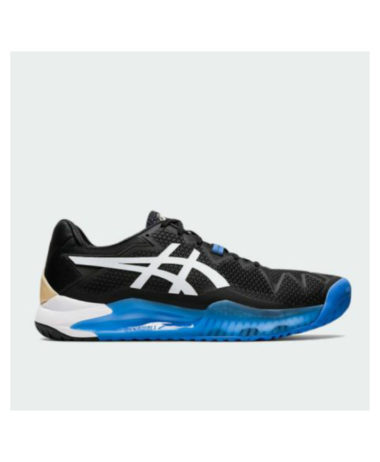 aSICS gEL-RESOLUTION 8 mENS tENNIS sHOE - bLACK/WHITE
