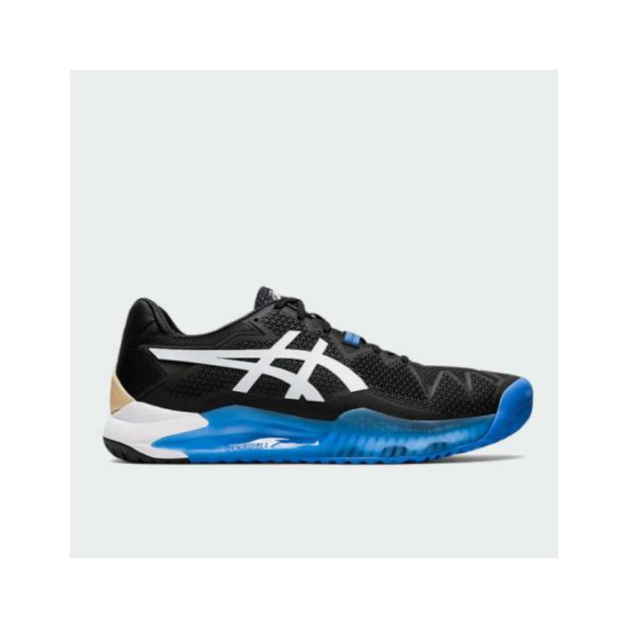 asics black tennis shoes
