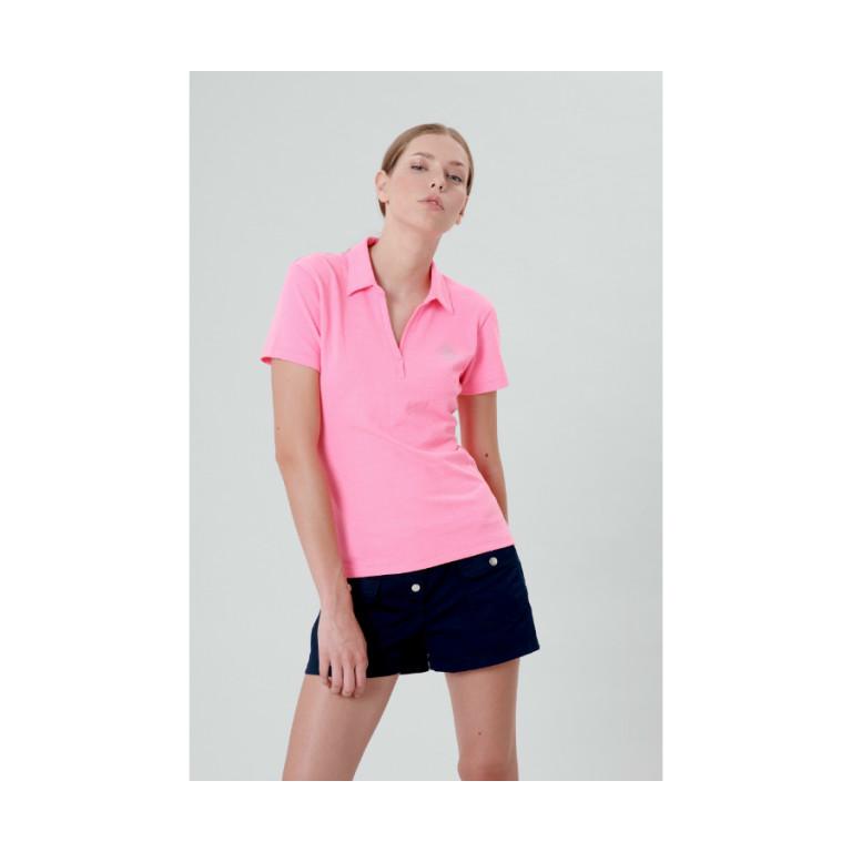 Poivre Blanc ladies pink polo