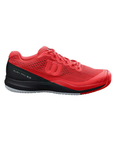Wilson Rush Pro 3.0 Mens Tennis Shoe - Red
