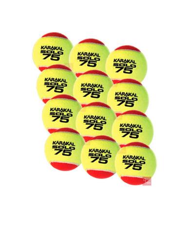 Karakal Solo 75 Mini Red Tennis Balls - 1 Dozen