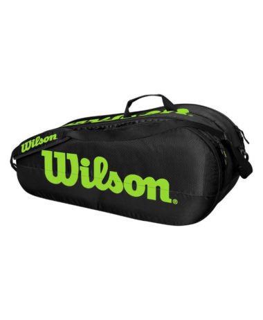 Wilson Team 2 compartment Racket Bag - Black/Green