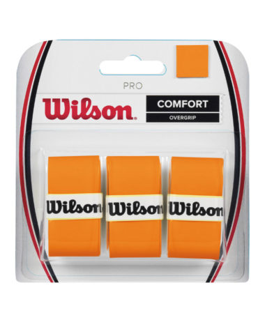 WILSON PRO OVERGRIP BURN ORANGE - 3 pack