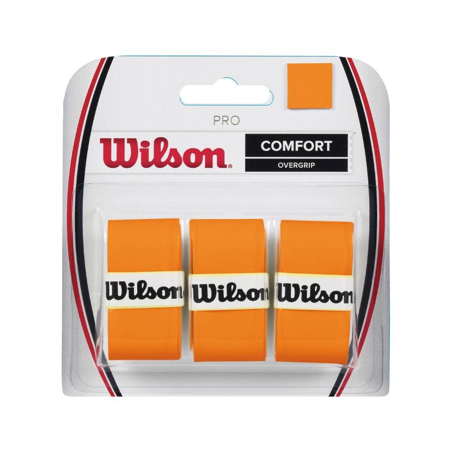 WILSON PRO OVERGRIP BURN ORANGE - 3 pack