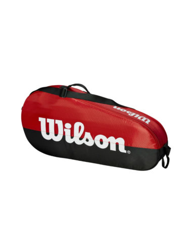 Wilson Team 1 Compartment Racket Bag - Black/Red