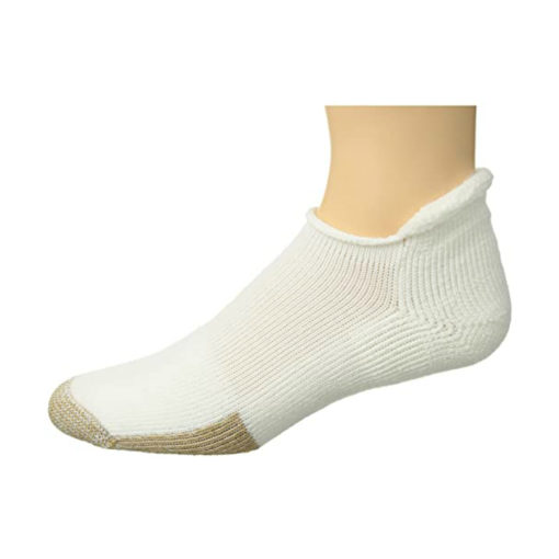 THORLO Womens White roll top socks