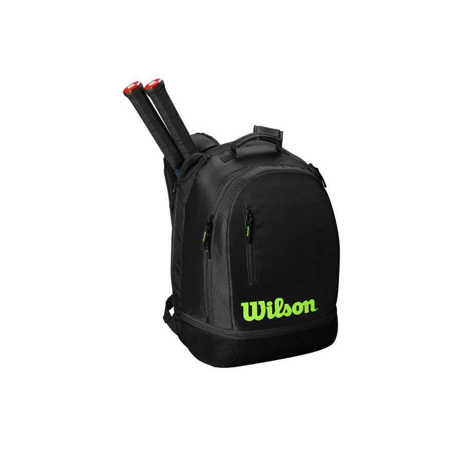 Wilson Team Racket Backpack - Black/Green