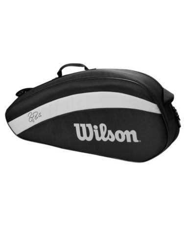 Wilson Federer Team 3 Racket Bag - Black